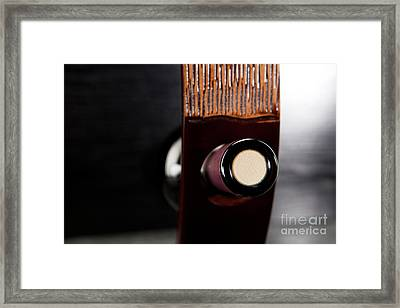 Red Wine Bottle In Luxury Holder Framed Print