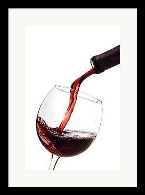 Wine Flowing Framed Prints
