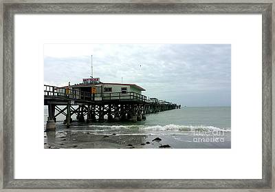 Redington Beach, Florida Fishing Pier Framed Print by Scott D Van Osdol