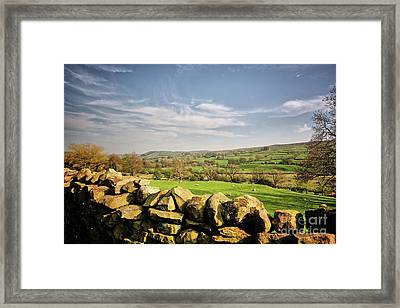 Reeth Views Framed Print by Nichola Denny