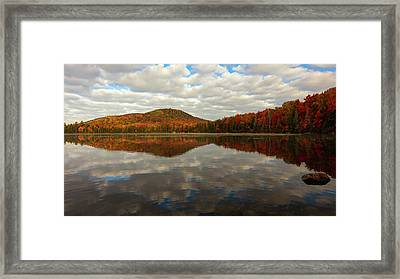 Framed Print featuring the photograph Autumn Reflections by Mike Lang