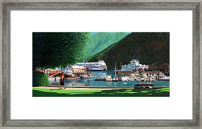Reflection And Meditation Horseshoe Bay Framed Print by Neil Woodward