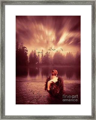Reflection Framed Print by KaFra Art