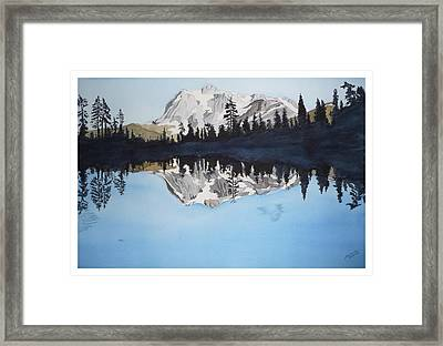 Framed Print featuring the painting Reflection Lake by Joel Deutsch