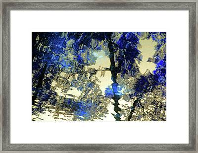 Reflections In Blue Framed Print by Carolyn Stagger Cokley