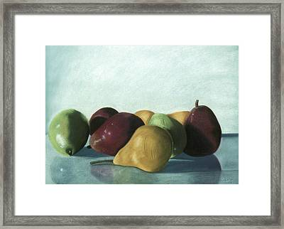 Framed Print featuring the pastel Reflections by Jan Amiss