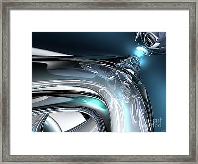 Reflections Of Blue Framed Print