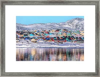 reflections of Ilulissat - Greenland Framed Print by Joana Kruse