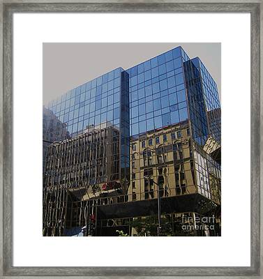Reflections Of Montreal Framed Print by Reb Frost