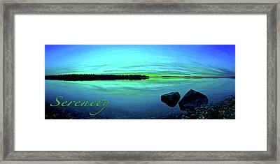 Reflections Of Serenity 2 Framed Print by ABeautifulSky Photography