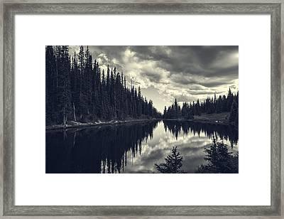Reflections On Lake Irene Framed Print