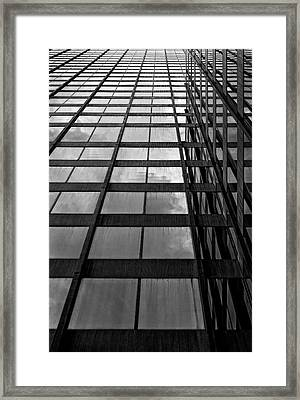 Reflective Glass And Metal Building Framed Print by Robert Ullmann