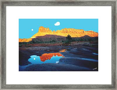 Reflective Intentions Framed Print