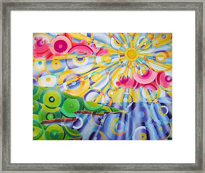 Refractions Framed Print by Betsy Jones