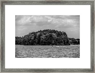 Relaxing On Lake Keowee In South Carolina Framed Print