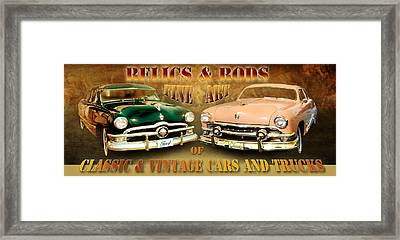 Relics And Rods Framed Print