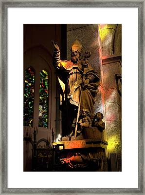 Framed Print featuring the photograph Religion by Urft Valley Art