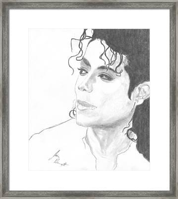Remembering Michael Framed Print by Josh Bennett