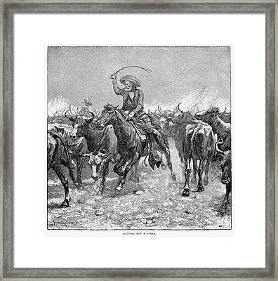 Remington: Cowboys, 1888 Framed Print by Granger