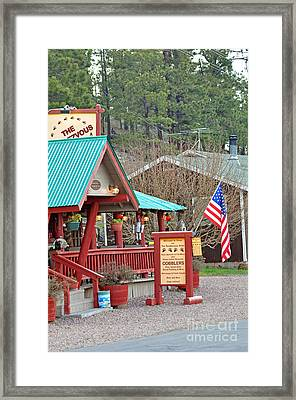 Framed Print featuring the photograph Rendezvous Diner by Juls Adams