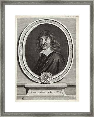 Rene Descartes, French Mathematician Framed Print by Humanities & Social Sciences Librarynew York Public Library