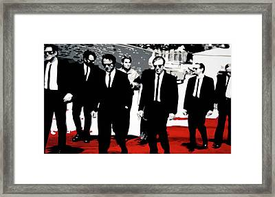 Reservoir Dogs Framed Print by Luis Ludzska
