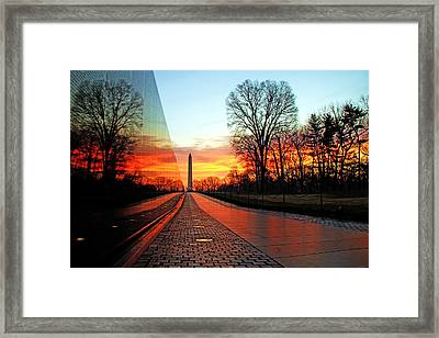 Resolve Framed Print by Mitch Cat