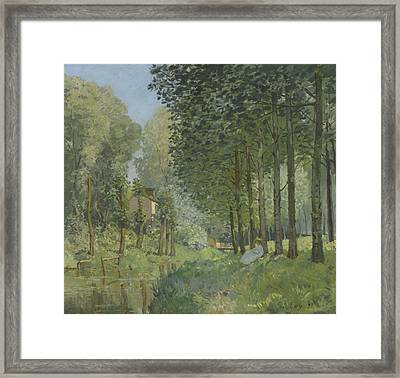 Rest Along The Stream  Framed Print by Alfred Sisley