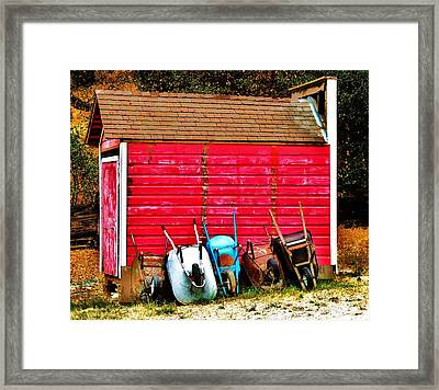 Retired Framed Print by Helen Carson