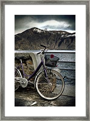 Retro Bike Framed Print