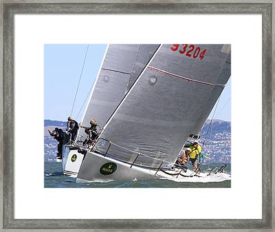 Retro Double Trouble Framed Print