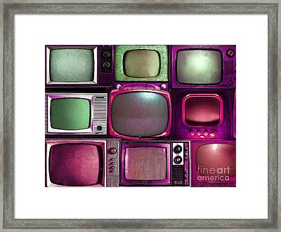 Retro Television Marathon 20150928 V2 M68 Framed Print by Wingsdomain Art and Photography