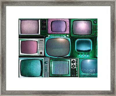 Retro Television Marathon 20150928 V2 P138 Framed Print by Wingsdomain Art and Photography