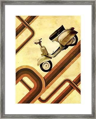 Retro Vespa Scooter Framed Print