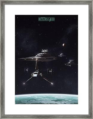 Return Of The Jedi Framed Print by Colin Morella