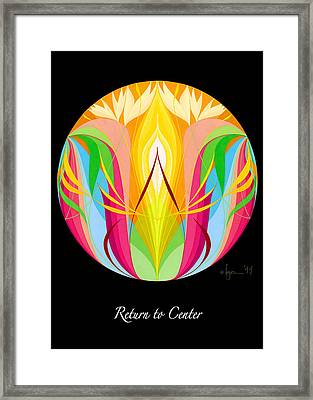 Return To Center Framed Print