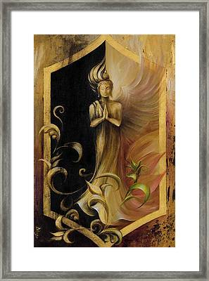 Framed Print featuring the painting Revelation And Enlightenment by Dina Dargo