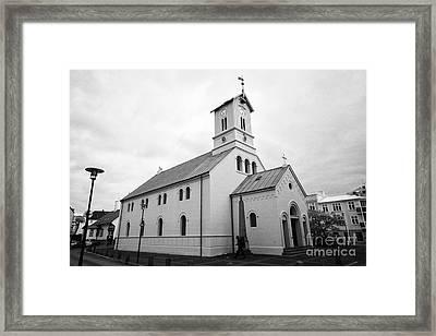 Reykjavik Cathedral Church Iceland Framed Print