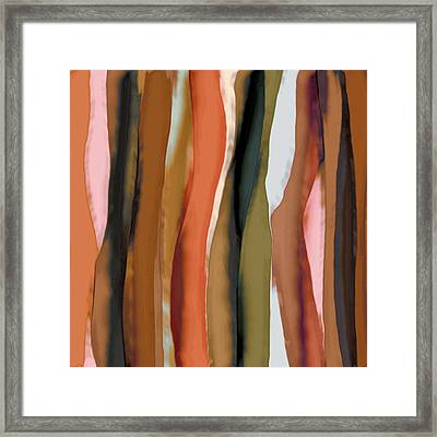 Framed Print featuring the painting Ribbons by Bonnie Bruno