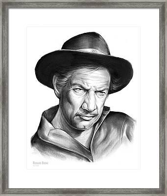 Richard Boone Framed Print