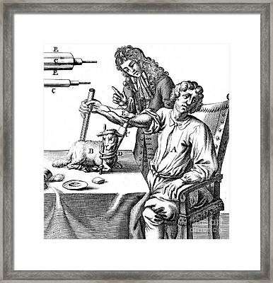 Richard Lower Transfusing Blood, Lamb Framed Print by Wellcome Images