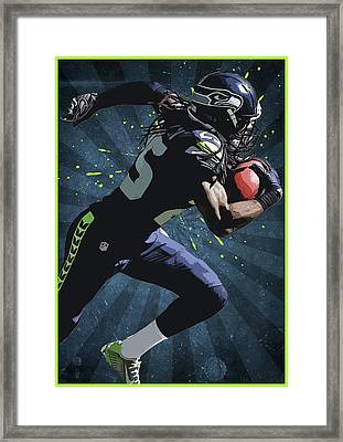 Richard Sherman Framed Print by Semih Yurdabak