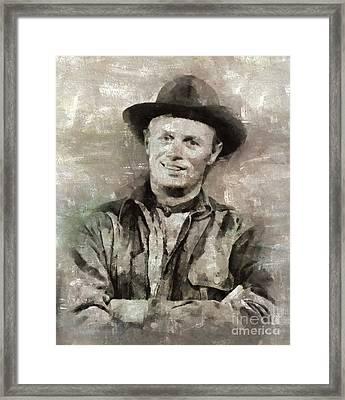 Richard Widmark Hollywood Actor Framed Print by Mary Bassett
