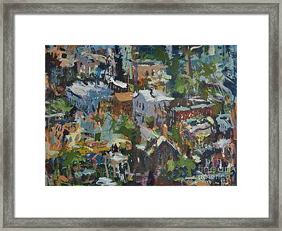 Richmond Virginia Cityscape Painting Framed Print