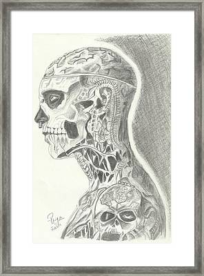 Rick Genest Framed Print by Priya Paul