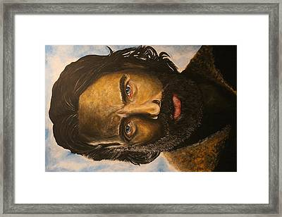 Rick Grimes Portrait Framed Print by Phil Hood