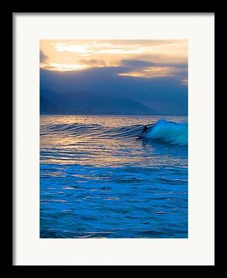 Rincon Beach Framed Prints