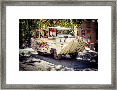 Framed Print featuring the photograph Ride The Ducks by Spencer McDonald