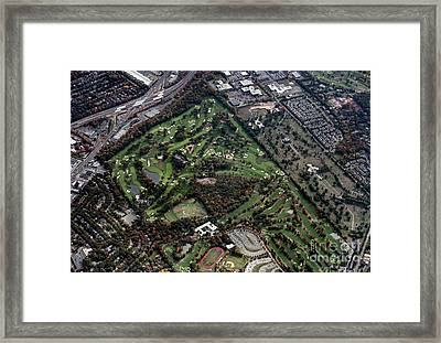 Ridgewood Country Club Aerial Photo Framed Print by David Oppenheimer