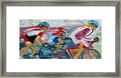 Riding The Roads Framed Print by Michael Lee